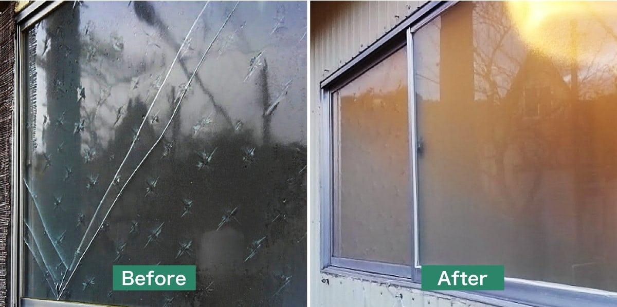 福井県のガラス交換・修理/一般住宅の浴室の窓のガラス交換
