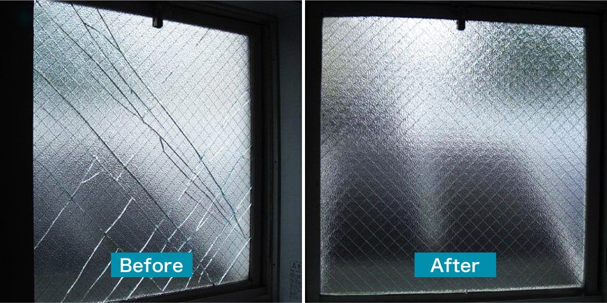 京都府のガラス交換・修理/一般住宅の浴室の窓のガラス交換