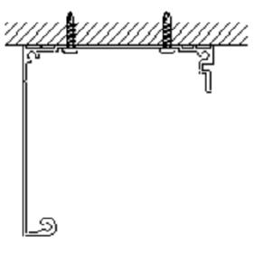 シネマウインドウ 天井付けの図解