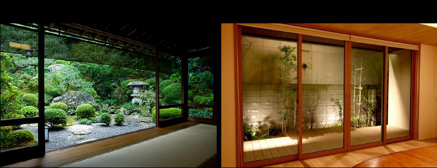 夜景専用ガラス TEIEN(庭園)の使用例と特徴